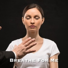 Hypnotized Woman Breathing Deeply